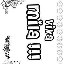 MILA colorear nombres niñas - Dibujos para Colorear y Pintar - Dibujos para colorear NOMBRES - Dibujos para colorear NOMBRES NIÑAS
