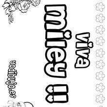 MILEY colorear nombres niñas - Dibujos para Colorear y Pintar - Dibujos para colorear NOMBRES - Dibujos para colorear NOMBRES NIÑAS