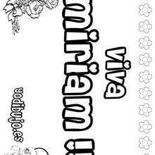 MIRIAM colorear nombres niñas - Dibujos para Colorear y Pintar - Dibujos para colorear NOMBRES - Dibujos para colorear NOMBRES NIÑAS