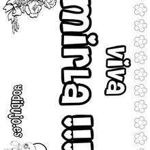 MIRLA colorear nombres niñas - Dibujos para Colorear y Pintar - Dibujos para colorear NOMBRES - Dibujos para colorear NOMBRES NIÑAS