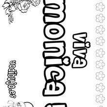 MONICA colorear nombres niñas - Dibujos para Colorear y Pintar - Dibujos para colorear NOMBRES - Dibujos para colorear NOMBRES NIÑAS