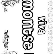 MONTSE colorear nombres niñas - Dibujos para Colorear y Pintar - Dibujos para colorear NOMBRES - Dibujos para colorear NOMBRES NIÑAS
