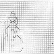 Ilustración : Juego de geometria MUÑECO DE NIEVE
