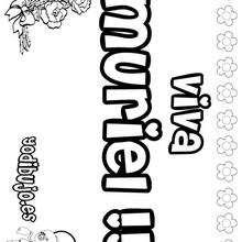 MURIEL colorear nombres niñas - Dibujos para Colorear y Pintar - Dibujos para colorear NOMBRES - Dibujos para colorear NOMBRES NIÑAS
