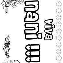 NANI colorear nombres niñas - Dibujos para Colorear y Pintar - Dibujos para colorear NOMBRES - Dibujos para colorear NOMBRES NIÑAS