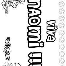 NAOMI colorear nombres niñas - Dibujos para Colorear y Pintar - Dibujos para colorear NOMBRES - Dibujos para colorear NOMBRES NIÑAS