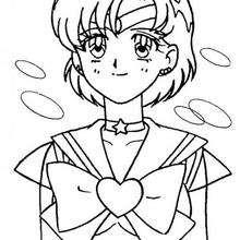 Sailor Moon sonrisa - Dibujos para Colorear y Pintar - Dibujos para colorear MANGA - Dibujos para colorear SAILOR MOON - Dibujos para colorear e imprimir SAILOR MOON