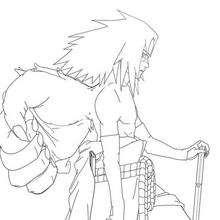 Naruto - Sasuke - Dibujos para Colorear y Pintar - Dibujos para colorear MANGA - Dibujos para colorear NARUTO - Dibujos para pintar gratis NARUTO