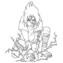 Naruto - Sasuke Chidori - Dibujos para Colorear y Pintar - Dibujos para colorear MANGA - Dibujos para colorear NARUTO - Dibujos para colorear e imprimir NARUTO