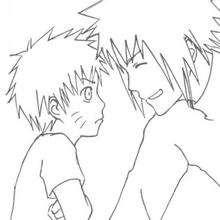 Naruto y amigo - Dibujos para Colorear y Pintar - Dibujos para colorear MANGA - Dibujos para colorear NARUTO - Dibujos para colorear e imprimir NARUTO