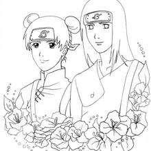 Naruto - Ten y Neji - Dibujos para Colorear y Pintar - Dibujos para colorear MANGA - Dibujos para colorear NARUTO - Dibujos para colorear e imprimir NARUTO
