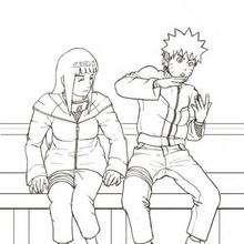 Naruto y Hinata - Dibujos para Colorear y Pintar - Dibujos para colorear MANGA - Dibujos para colorear NARUTO - Dibujos para pintar gratis NARUTO