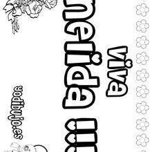 NELIDA colorear nombres niñas - Dibujos para Colorear y Pintar - Dibujos para colorear NOMBRES - Dibujos para colorear NOMBRES NIÑAS