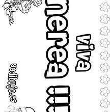 NEREA colorear nombres niñas - Dibujos para Colorear y Pintar - Dibujos para colorear NOMBRES - Dibujos para colorear NOMBRES NIÑAS
