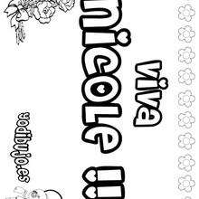 NICOLE colorear nombres niñas - Dibujos para Colorear y Pintar - Dibujos para colorear NOMBRES - Dibujos para colorear NOMBRES NIÑAS