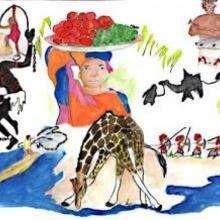 Níger - Dibujar Dibujos - Imagenes para niños - Imagenes del MUNDO - En África