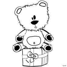 Osito de Navidad - Dibujos para Colorear y Pintar - Dibujos para colorear FIESTAS - Dibujos para colorear de NAVIDAD - OSO NAVIDAD para colorear