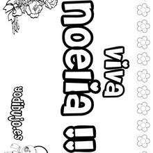 NOELIA colorear nombres niñas - Dibujos para Colorear y Pintar - Dibujos para colorear NOMBRES - Dibujos para colorear NOMBRES NIÑAS