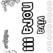 NORA colorear nombres niñas - Dibujos para Colorear y Pintar - Dibujos para colorear NOMBRES - Dibujos para colorear NOMBRES NIÑAS
