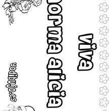 NORMA ALICIA colorear nombres niñas - Dibujos para Colorear y Pintar - Dibujos para colorear NOMBRES - Dibujos para colorear NOMBRES NIÑAS