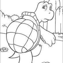 Verne la tortuga - Dibujos para Colorear y Pintar - Dibujos de PELICULAS colorear - Dibujos para colorear VECINOS INVASORES