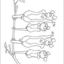 Dibujo para colorear : los murciélagos
