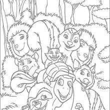 Vecinos invasores: toda la banda - Dibujos para Colorear y Pintar - Dibujos de PELICULAS colorear - Dibujos para colorear VECINOS INVASORES