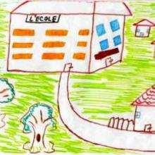 Mi escuela en Francia - Dibujar Dibujos - Imagenes para niños - Imagenes del MUNDO - En Europa