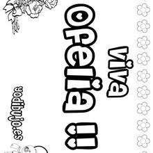 OFELIA colorear nombres niñas - Dibujos para Colorear y Pintar - Dibujos para colorear NOMBRES - Dibujos para colorear NOMBRES NIÑAS