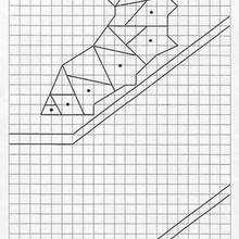 Juego de geometria ORUGA - Juegos divertidos - Juegos para IMPRIMIR - Juegos de OBSERVACION - Juegos de GEOMETRIA