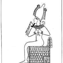 Osiris - Dibujos para Colorear y Pintar - Dibujos para colorear los PAISES - EGIPTO para colorear - DIOSES EGIPCIOS para colorear
