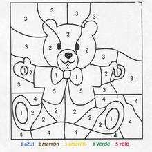 Juego infantil : Juego de pintar OSITO FACIL