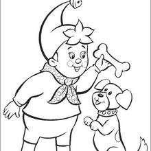 Noddy y perro - Dibujos para Colorear y Pintar - Dibujos para colorear PERSONAJES - PERSONAJES ANIME para colorear - Noddy para pintar