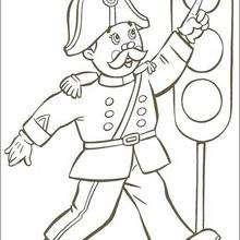 Sr. Pull y el semáforo - Dibujos para Colorear y Pintar - Dibujos para colorear PERSONAJES - PERSONAJES ANIME para colorear - Noddy para pintar