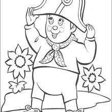 Noddy disfrazado de Sr. Pull - Dibujos para Colorear y Pintar - Dibujos para colorear PERSONAJES - PERSONAJES ANIME para colorear - Noddy para pintar