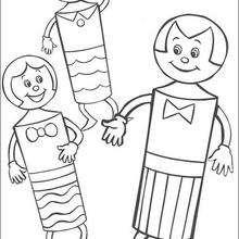 Dibujo para colorear : Amigos de Noddy