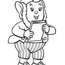 Jumbo y su libro - Dibujos para Colorear y Pintar - Dibujos para colorear PERSONAJES - PERSONAJES ANIME para colorear - Noddy para pintar