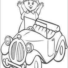 Dibujo para colorear : Rita en el coche de Noddy
