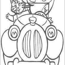 Dibujo para colorear : Gato y Ratón