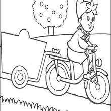 Dibujo para colorear : Noddy en bicicleta