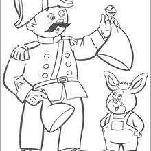 Sr Pull y Orejas - Dibujos para Colorear y Pintar - Dibujos para colorear PERSONAJES - PERSONAJES ANIME para colorear - Noddy para pintar
