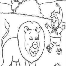 Noddy y el león - Dibujos para Colorear y Pintar - Dibujos para colorear PERSONAJES - PERSONAJES ANIME para colorear - Noddy para pintar