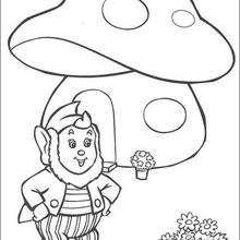 Jumbo mirando las flores del jardín - Dibujos para Colorear y Pintar - Dibujos para colorear PERSONAJES - PERSONAJES ANIME para colorear - Noddy para pintar