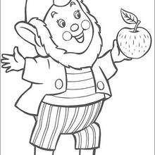 Dibujo para colorear : Jumbo y la manzana