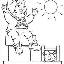 Dibujo para colorear : Noddy y Ratón