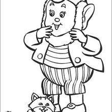 Dibujo para colorear : Jumbo y gato