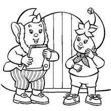 Jumbo y Noddy - Dibujos para Colorear y Pintar - Dibujos para colorear PERSONAJES - PERSONAJES ANIME para colorear - Noddy para pintar
