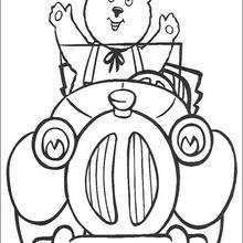 Coche de Noddy con osito - Dibujos para Colorear y Pintar - Dibujos para colorear PERSONAJES - PERSONAJES ANIME para colorear - Noddy para pintar