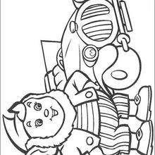 Coche de Noddy  - Dibujos para Colorear y Pintar - Dibujos para colorear PERSONAJES - PERSONAJES ANIME para colorear - Noddy para pintar