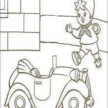 Noddy corre - Dibujos para Colorear y Pintar - Dibujos para colorear PERSONAJES - PERSONAJES ANIME para colorear - Noddy para pintar